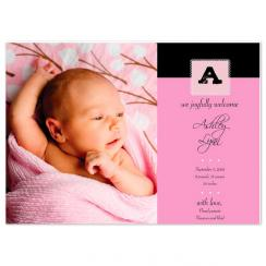 Simply Pink Birth Announcements