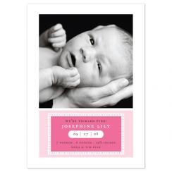the date Birth Announcements