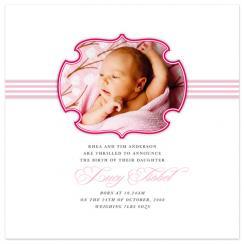Pretty in Pink Birth Announcements