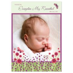 Wildflower Fields Birth Announcements