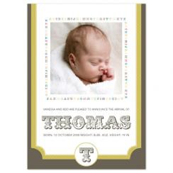 Alphabet Circus Birth Announcements