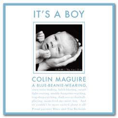 All Boy Birth Announcements