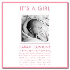 All Girl Birth Announcements