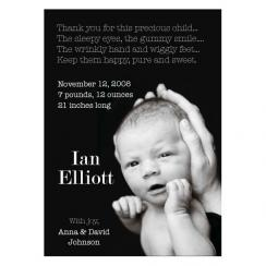 Paperback Baby Birth Announcements