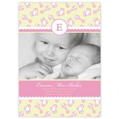 Baby Socks Birth Announcements