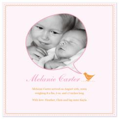 Talking Bird Birth Announcements
