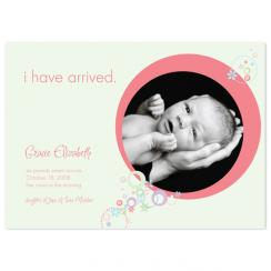 Baby in a Bubble Birth Announcements