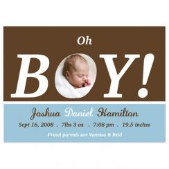 Oh Boy! Birth Announcements