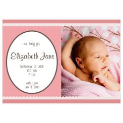Our Baby Birth Announcements