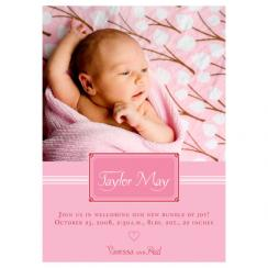 Perfectly Pink Birth Announcements