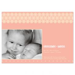 Pink floral passion Birth Announcements