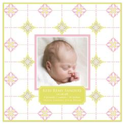 Gentle Pattern Birth Announcements