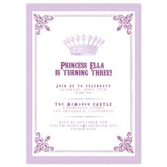 Crowned Birthday Party Invitations