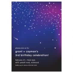 Starry Night Birthday Party Invitations