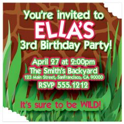 Wild Party Birthday Party Invitations