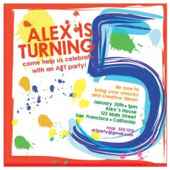 Paint Party Birthday Party Invitations