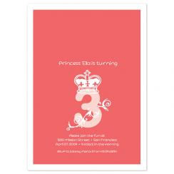 Princess 3 Birthday Party Invitations