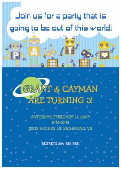Out of this world! Birthday Party Invitations