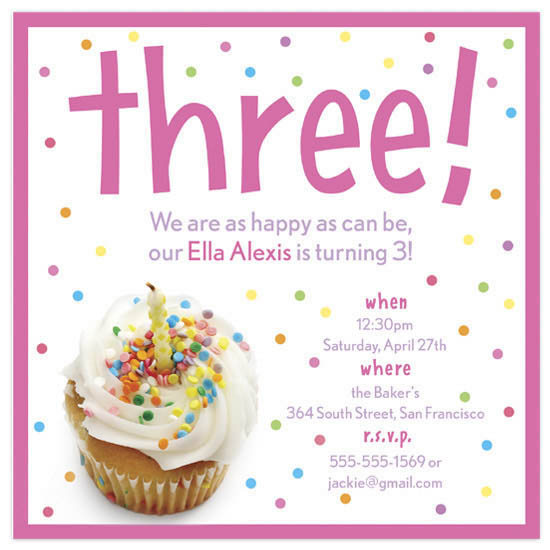 birthday party invitations - Sprinkle Cupcake by Andrea Westervelt