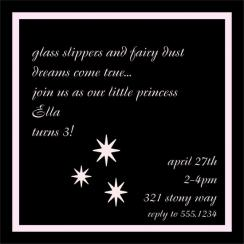 Slippers and Dust Birthday Party Invitations