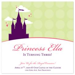 Castle in the Clouds Birthday Party Invitations