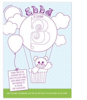 Coloring Book Birthday Party Invitations