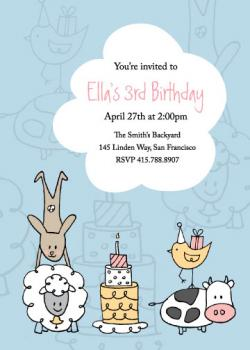 Farm Party Birthday Party Invitations
