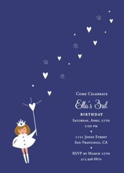 Make a Wish Birthday Party Invitations