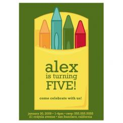 crayons! Birthday Party Invitations