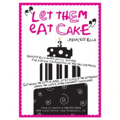 Let Them Eat Cake! Birthday Party Invitations