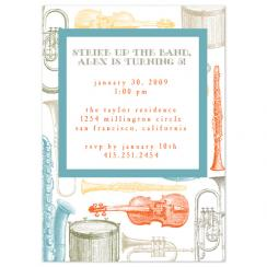 Strike up the band Birthday Party Invitations