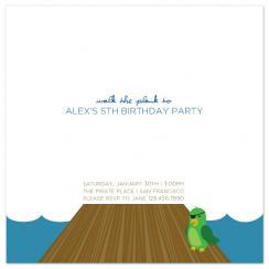 Walk the Plank Birthday Party Invitations