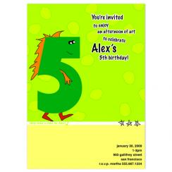 Dinofive Birthday Party Invitations