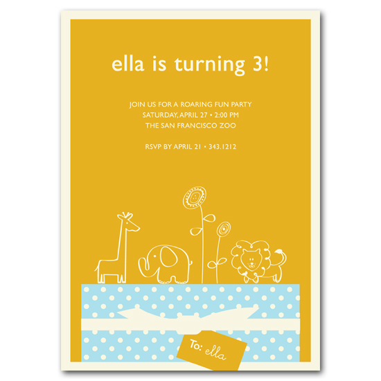 birthday party invitations - Wild Gift by Carrie Eckert