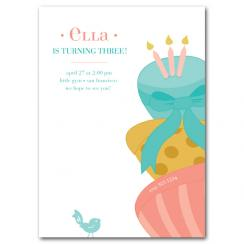 Cake Tower Birthday Party Invitations