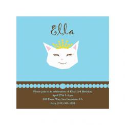 Pretty Kitty Birthday Party Invitations