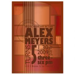 Gig Poster Birthday Party Invitations
