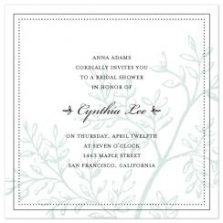 Subtle Leaves Wedding Stationery