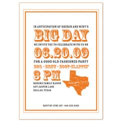 Big Tex BBQ Wedding Stationery