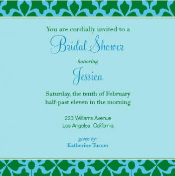 green with envy Wedding Stationery