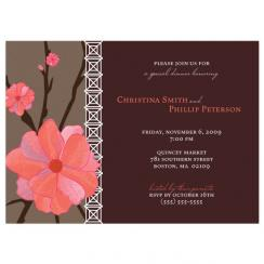 Peach Blossom Wedding Stationery