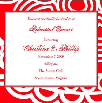cherry red Wedding Stationery