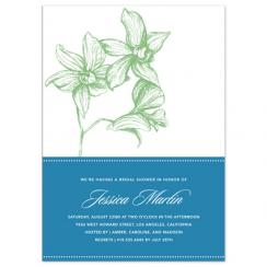 Green Orchids Wedding Stationery