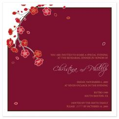 Cascading Blossoms Wedding Stationery