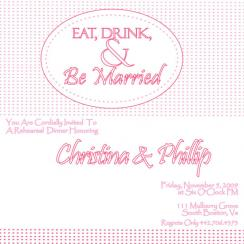 Eat Drink and Be Married Wedding Stationery