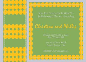 Stitched Rehearsal Wedding Stationery