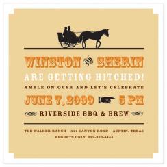 Vintage Riverside BBQ Wedding Stationery
