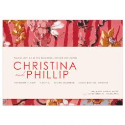 Painted Flowers Wedding Stationery