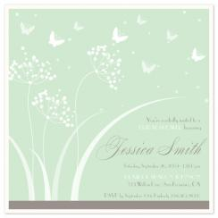 Butterfly Shower Wedding Stationery
