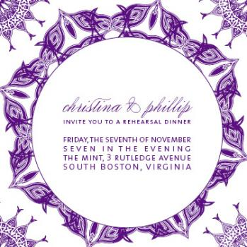 violet Wedding Stationery
